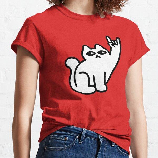 Katzen mögen Metall Classic T-Shirt