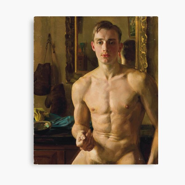 The Boxer (1933) by Konstantin Somov Canvas Print