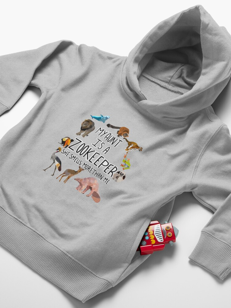 Alternate view of My aunt is a zookeeper  Toddler Pullover Hoodie