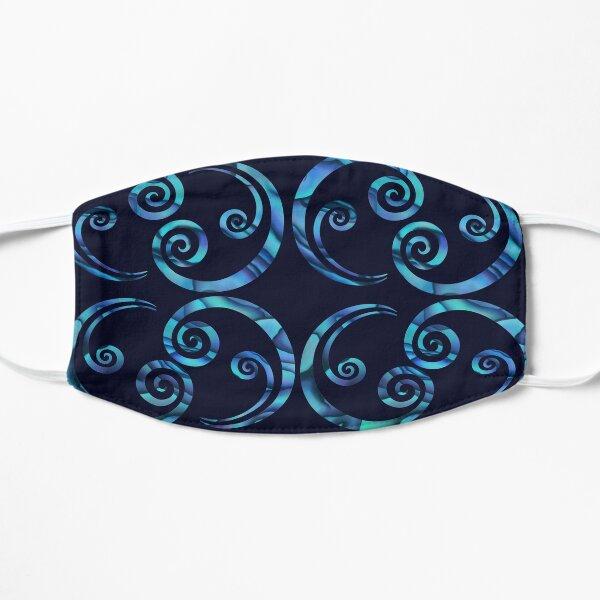 Paua koru line Flat Mask