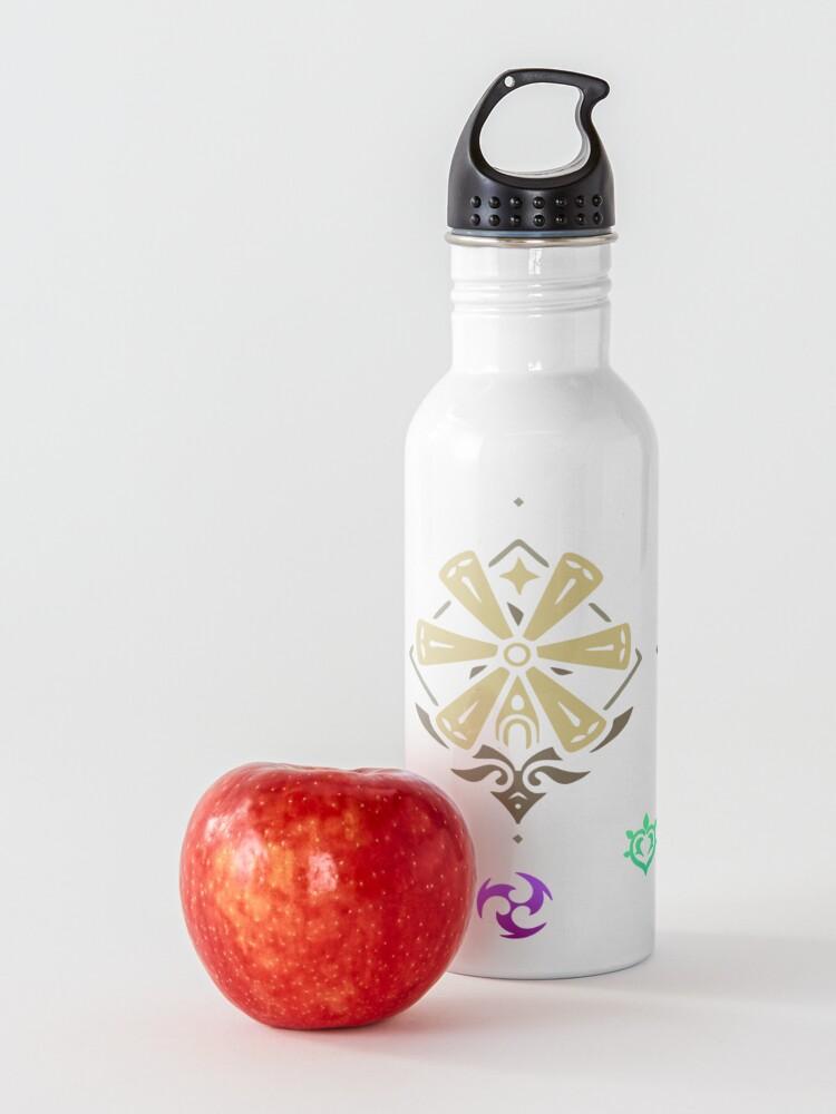 Alternate view of Genshin impact elements impact Water Bottle
