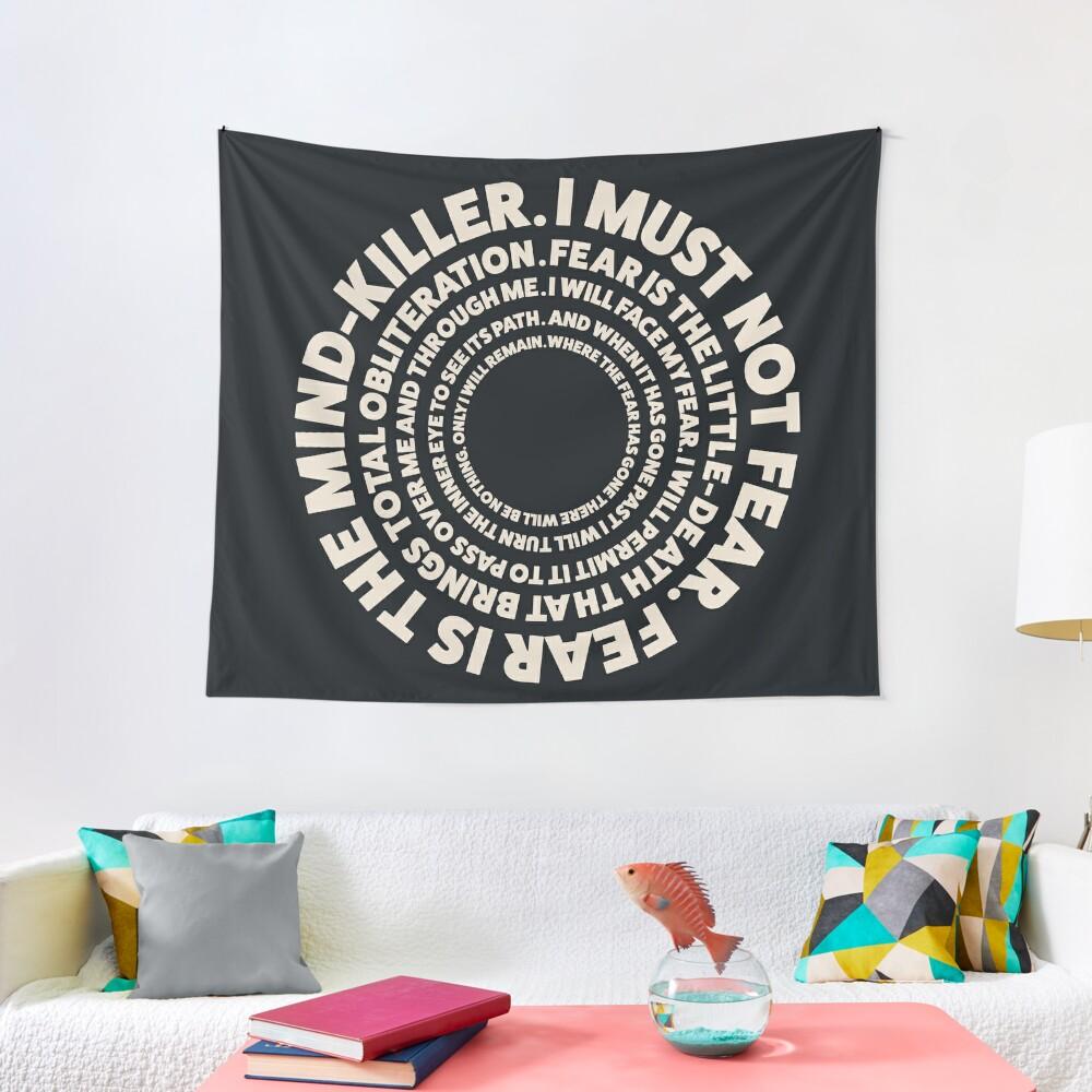 Dune Litany Against Fear Design Tapestry