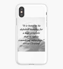 High Principle - Grover Cleveland iPhone Case/Skin