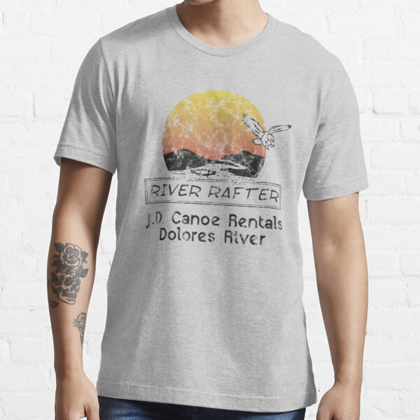 Dolores River Canoe Rentals River Rafter (distressed) Essential T-Shirt
