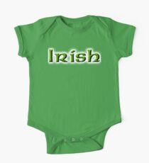 IRISH, Ireland, Eire, Emerald Isle, St Patricks Day, On White One Piece - Short Sleeve