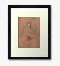 Ghibli Minimalist 'Whisper of the Heart' Framed Print