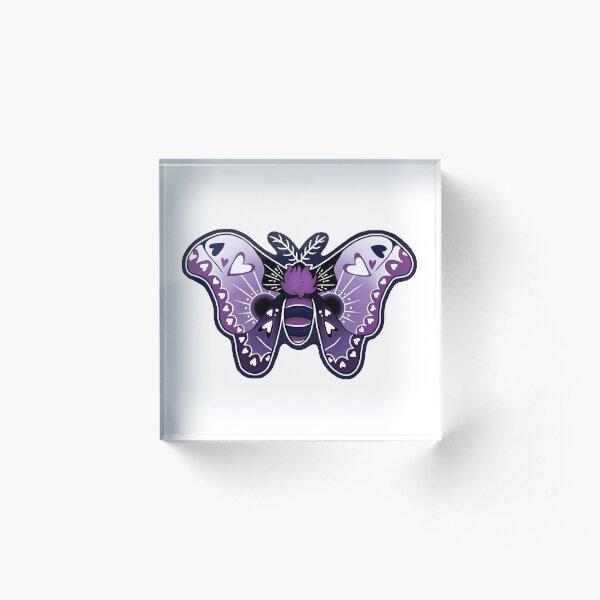 Grand Atlas Moth Loves You Acrylic Block