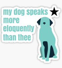 Hamilton Farmer Refuted Dog Quote Sticker