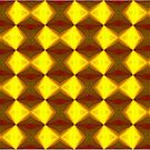 Bold Red, Green and Gold Repeating Pattern by taiche