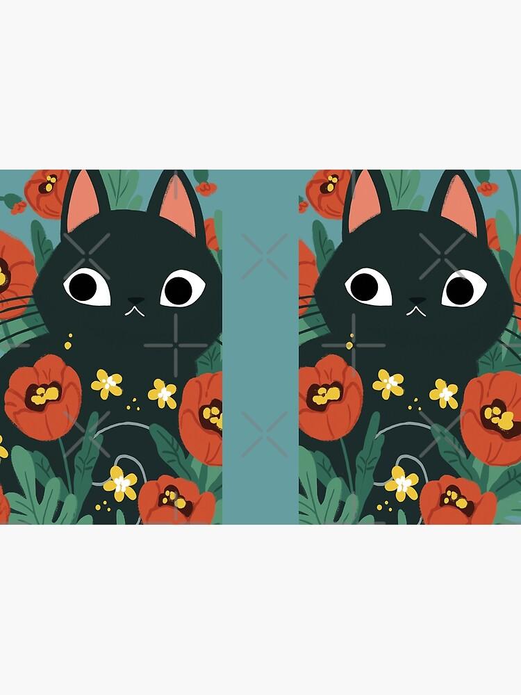 Cat in Poppy Flowers  by michelledraws