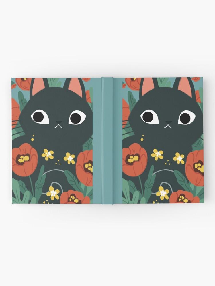 Alternate view of Cat in Poppy Flowers  Hardcover Journal