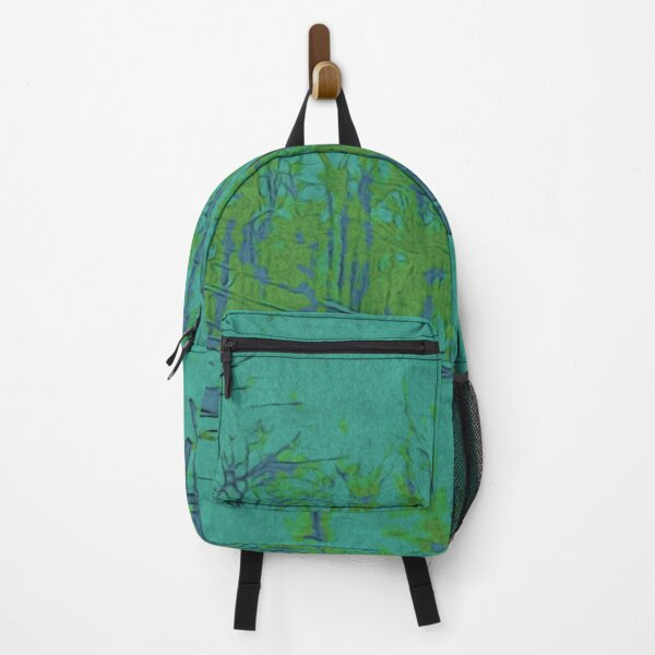 Nature Lovers Gift - Into the Woods - Teal Blue Green Abstract Nature Art Backpack