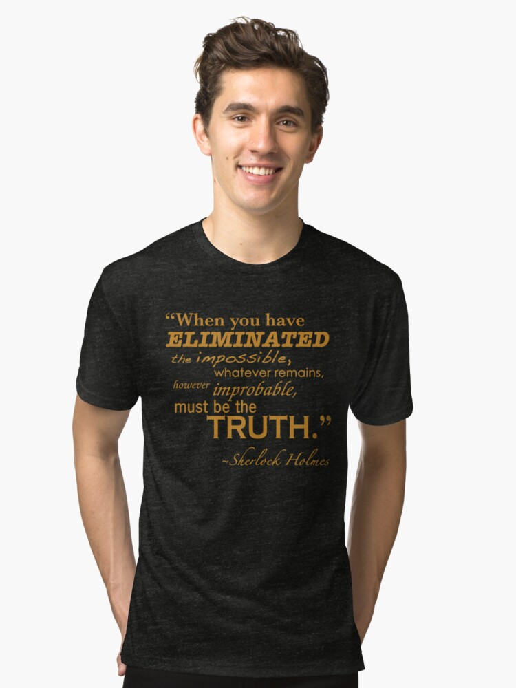 Elimiated the Impossible Tri-blend T-Shirt Front