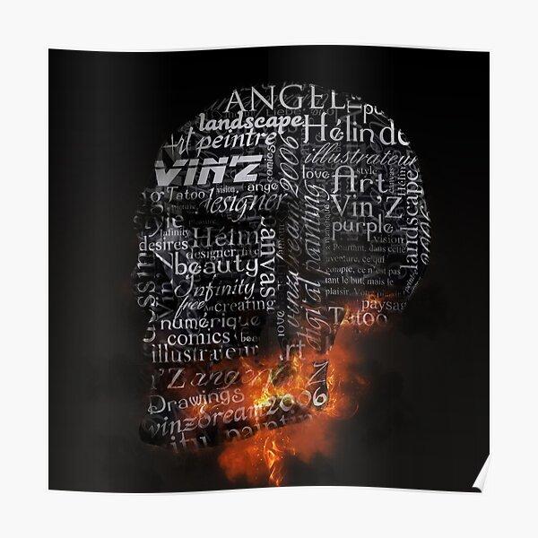 Skull Vin'Z Poster