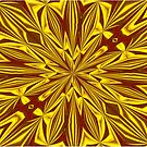 Red and Gold Christmas Kaleidescope by taiche