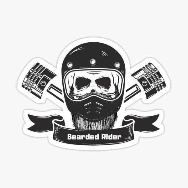Bearded Rider Sticker