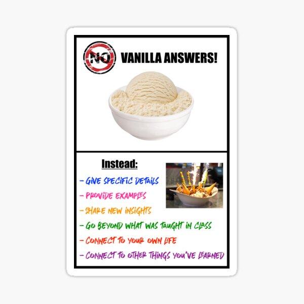 No Vanilla Answers! Sticker