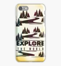 Explore the world. Typography iPhone Case/Skin