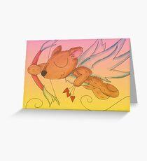 Plush Amoretto Greeting Card