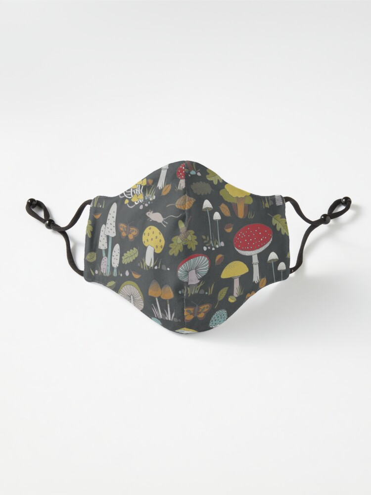 Alternate view of Forest Floor - fun fungus pattern by Cecca Designs Mask