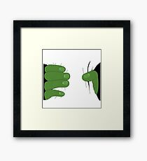 Grabbed by the Hulk Framed Print