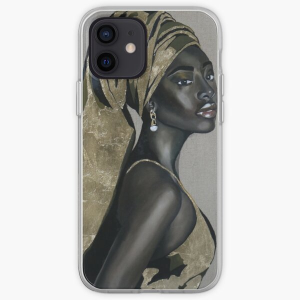 Black girl with that pearl earring iPhone Soft Case