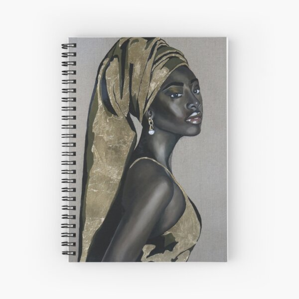 Black girl with that pearl earring Spiral Notebook
