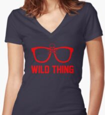 Wild Thing - For The Major League Indians Fan! Women's Fitted V-Neck T-Shirt