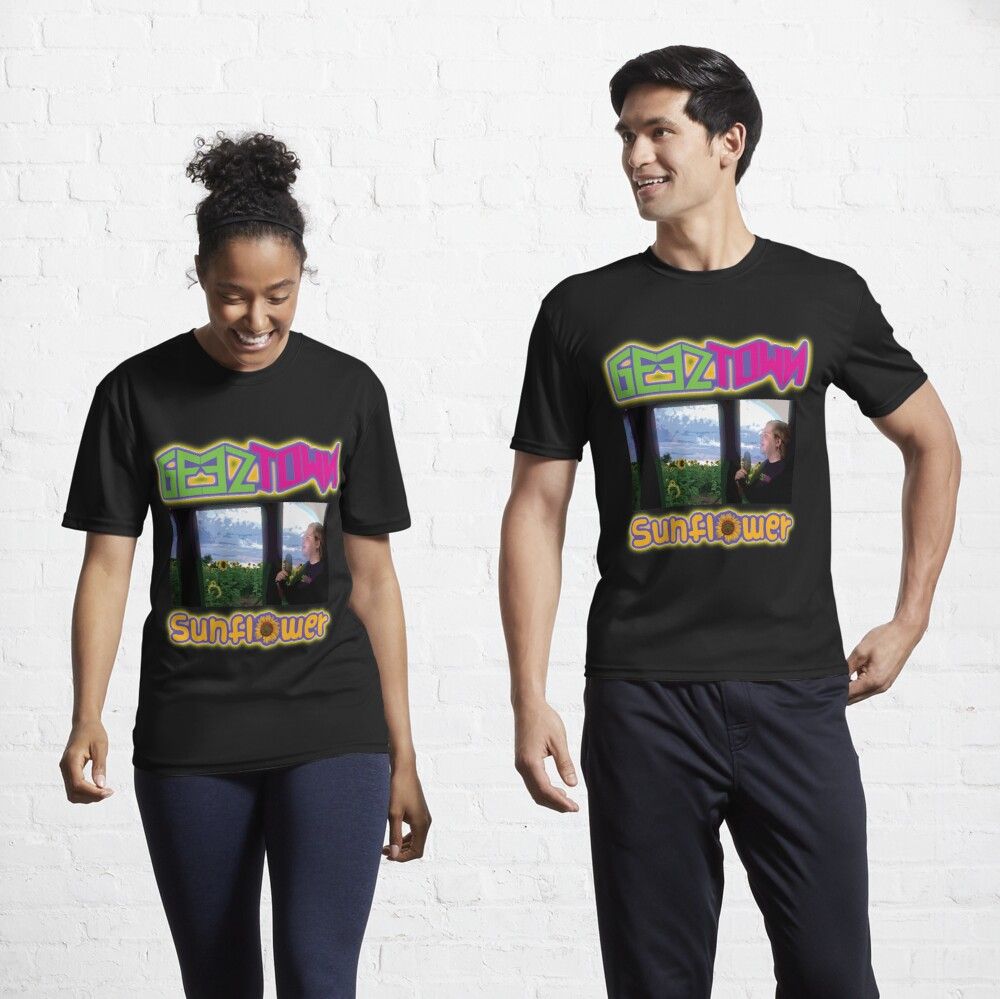 Geeztown Sunflower Active T-Shirt