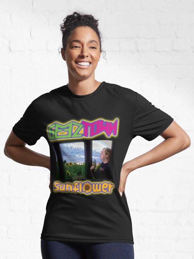 Alternate view of Geeztown Sunflower Active T-Shirt