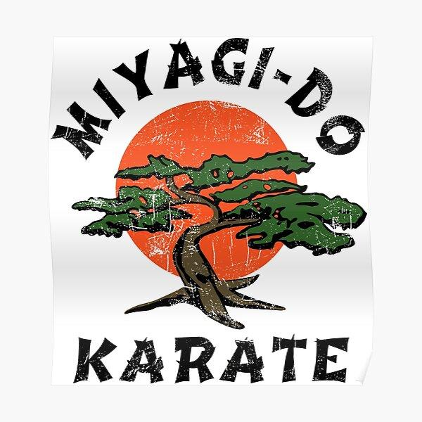 Miyagi Do de aspecto vintage - Gráfico HD - Diseño profesional Póster