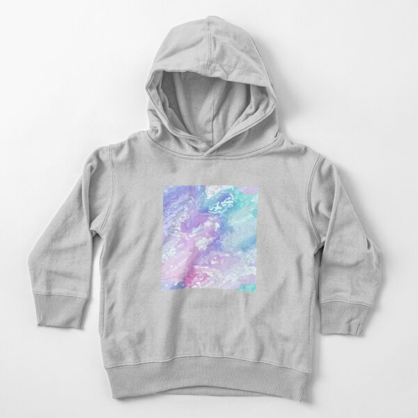 Colorful Acrylic Abstract Toddler Pullover Hoodie