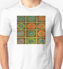 Ringed Ovals within Hatched Grid Unisex T-Shirt