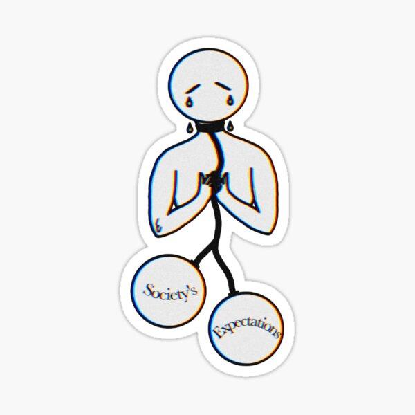 suffocated (w) Sticker