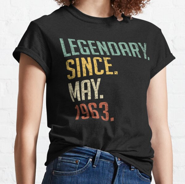 Legendary Since May 1963 58th Birthday Gift 58 Years Old Vintage May 1963 Classic T-Shirt