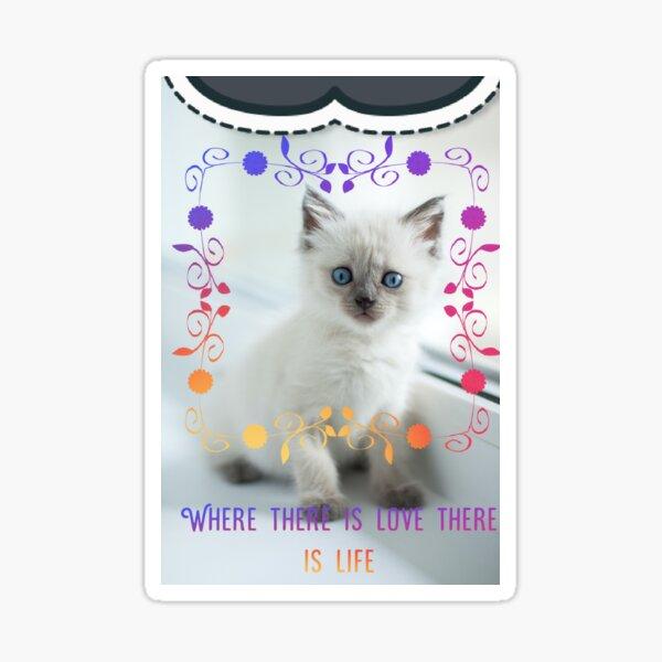 wery nice cat dezine Sticker