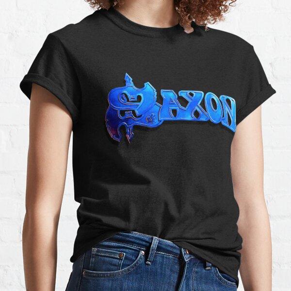 saxon denim and leather MEN t-shirt BAND MUSIC saxon logo clothing shirt unisex
