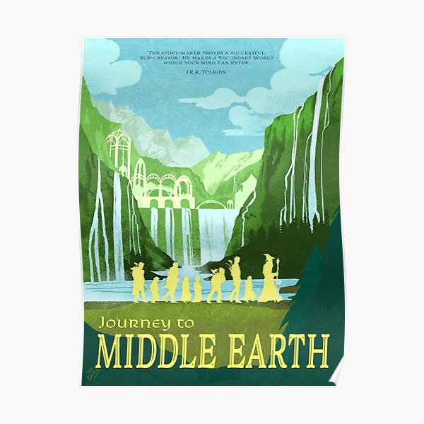 Middle Earth Travel Poster (2/3) Poster