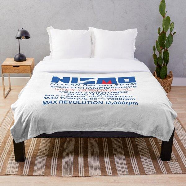 Nismo Nissan Racing Team Vintage Logo Throw Blanket