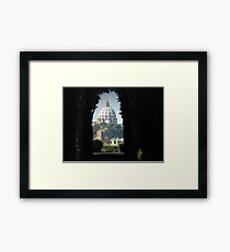 St Peters through the Aventine Keyhole Framed Print