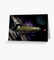 Space Battle Cruiser  Greeting Card