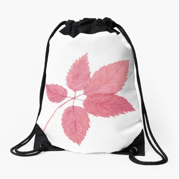 Red fall foliage Drawstring Bag