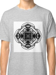 Monochrome Rose Classic T-Shirt