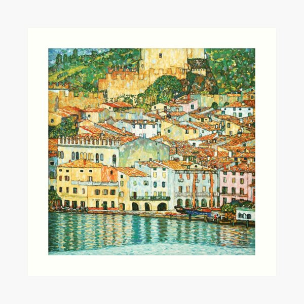 "Gustav Klimt ""Malcesine on Lake Garda"" Art Print"