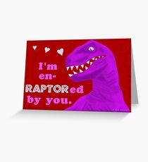Funny Valentine's Day Raptor Dinosaur Cute Pun Greeting Card