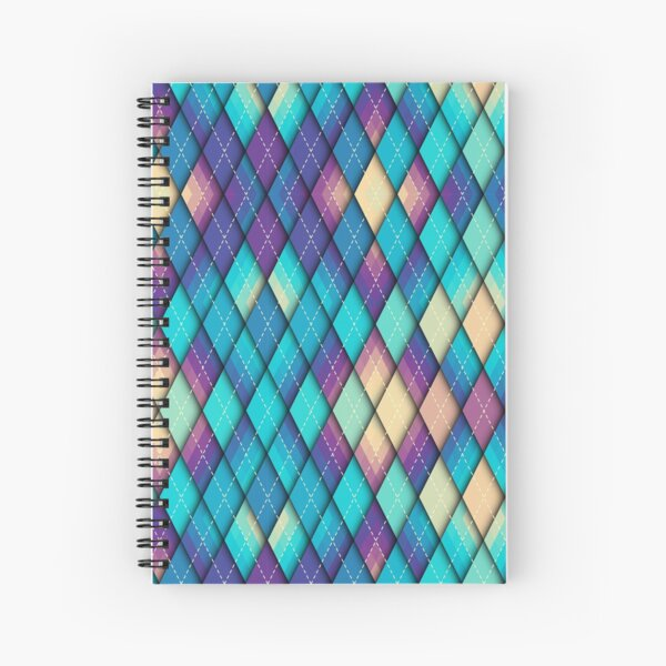 Stained Glass Twilight Spiral Notebook