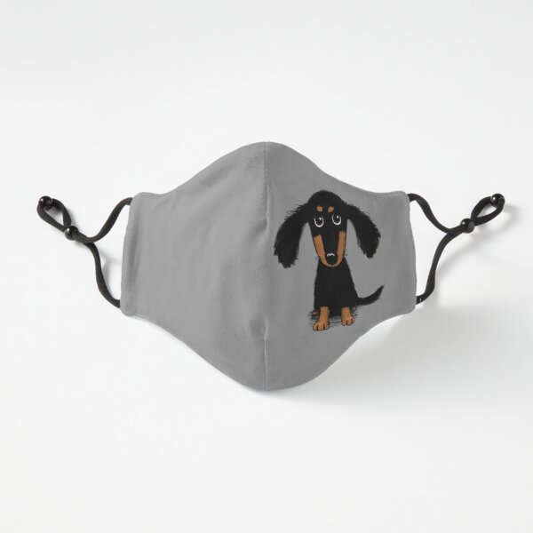 Longhaired Dachshund Black and Tan Puppy Dog Fitted 3-Layer