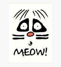 Ralph Wiggum Cat Art Print