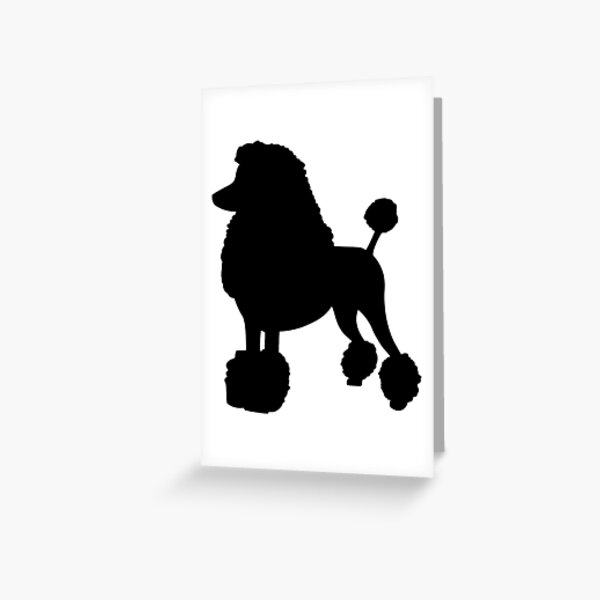 Single Black Poodle Greeting Card Gift//Present dog Birthday