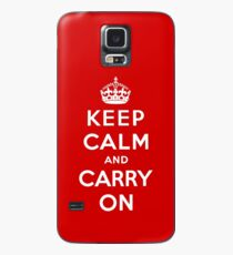 Keep Calm And Carry On Case/Skin for Samsung Galaxy